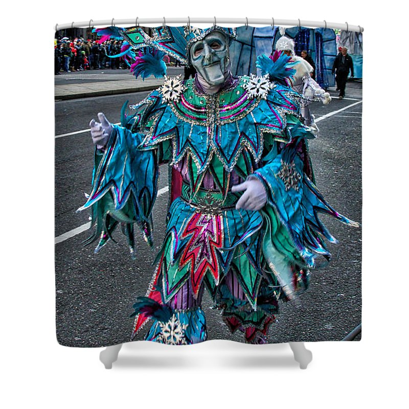 Mummer Shower Curtain featuring the photograph Snowflake Mummer by Alice Gipson