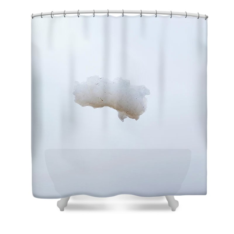 California Shower Curtain featuring the photograph Soap Foam Floating Through The Air by Pete Starman