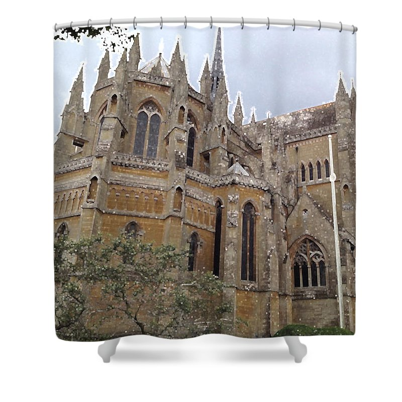 Photograph Shower Curtain featuring the photograph Soaring Spires by Nicole Parks