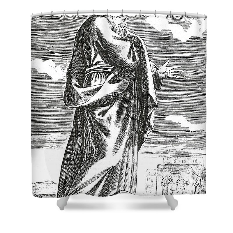 Western Philosophy Shower Curtain featuring the photograph Socrates, Ancient Greek Philosopher by Science Source