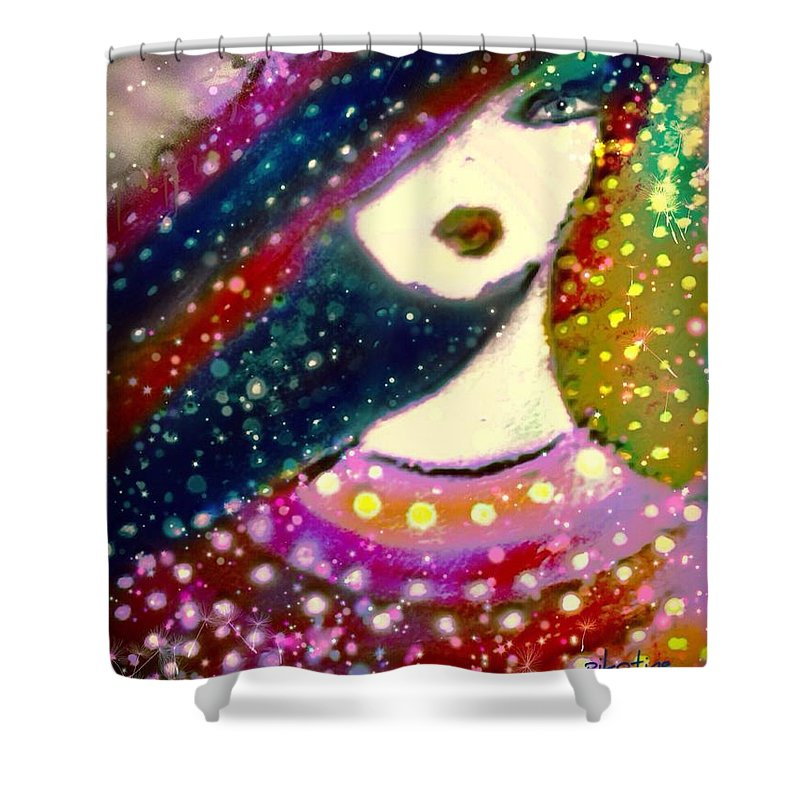 Soeur Margerite Shower Curtain featuring the digital art Soeur Margerite by Pikotine Art