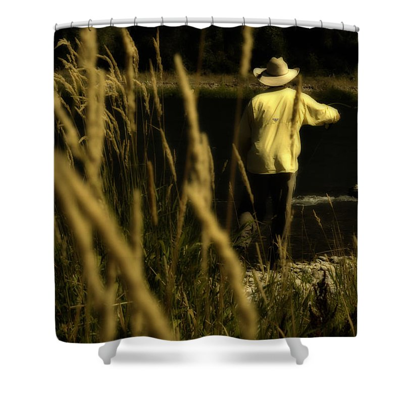 Fly Fishing Shower Curtain featuring the photograph Soft Cast by Ron White