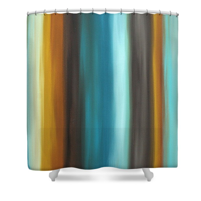 Colorful Shower Curtain featuring the painting Soft Chocolate By Madart by Megan Duncanson
