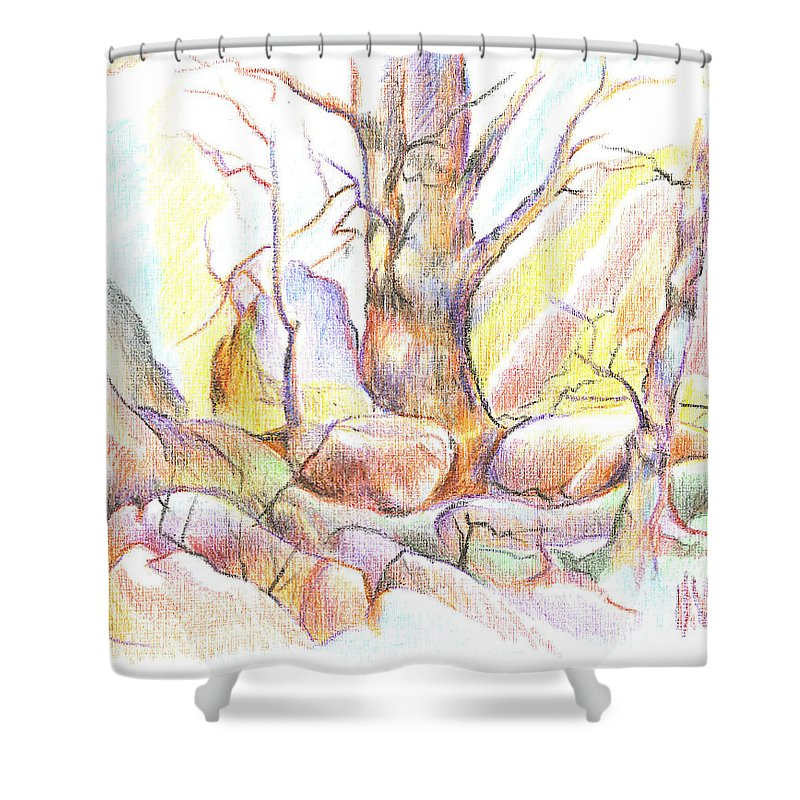 Softly Speaking Shower Curtain featuring the painting Softly Speaking by Kip DeVore