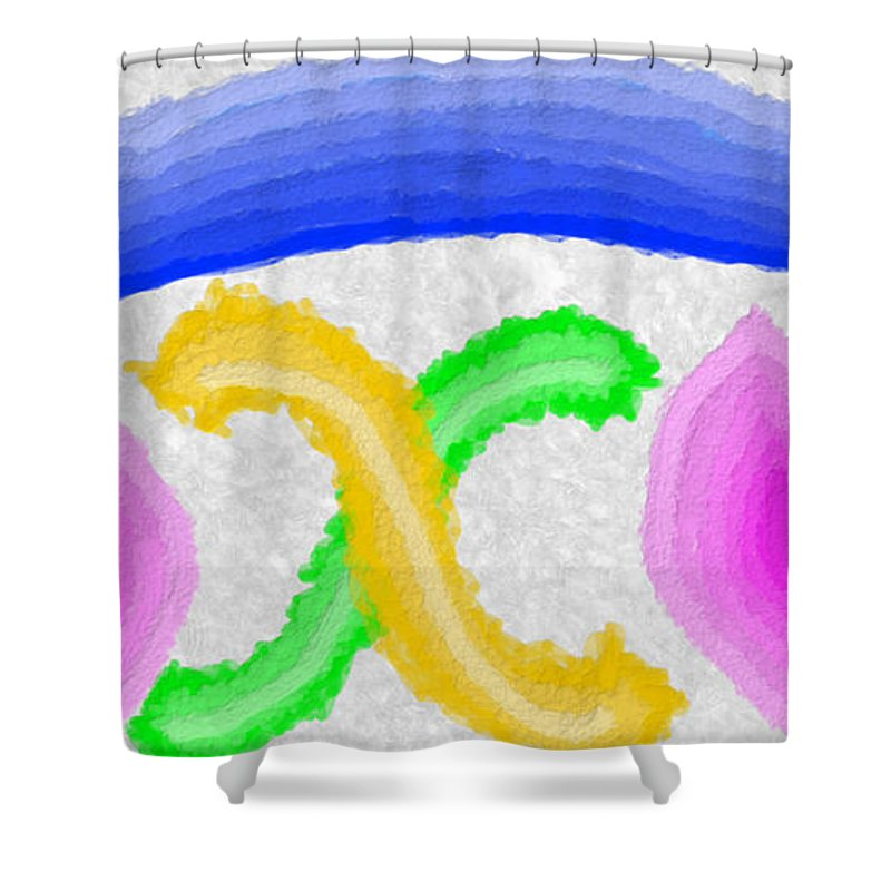 Abstract Shower Curtain featuring the painting Softness by Bruce Nutting