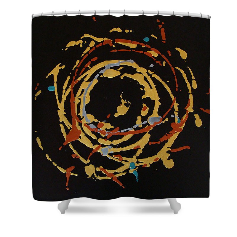 Abstract Shower Curtain featuring the painting Solaris by Holly Picano