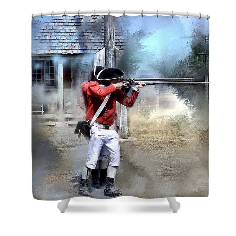 Evie Shower Curtain featuring the photograph Soldiers Of The King by Evie Carrier