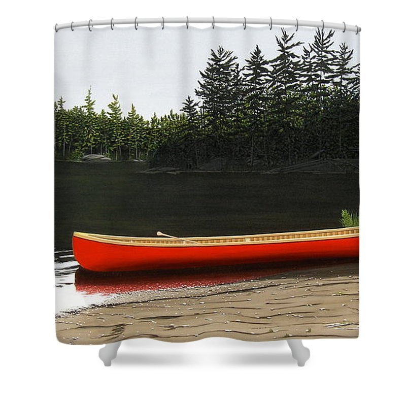 Llandscapes Shower Curtain featuring the painting Solemnly by Kenneth M Kirsch
