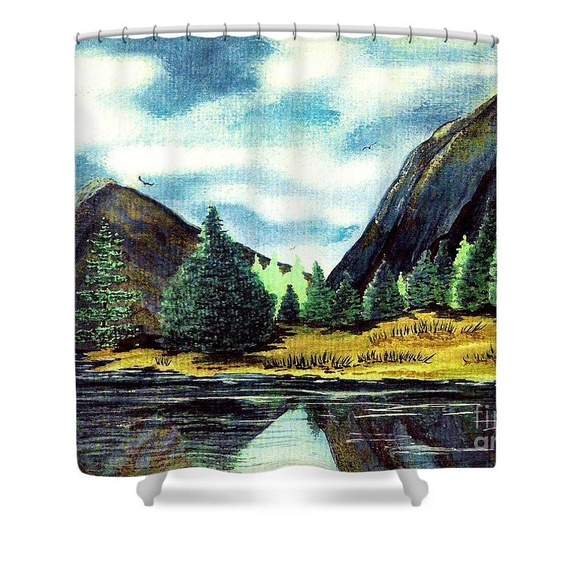 Fine Art Shower Curtain featuring the painting Solitude by Patricia Griffin Brett