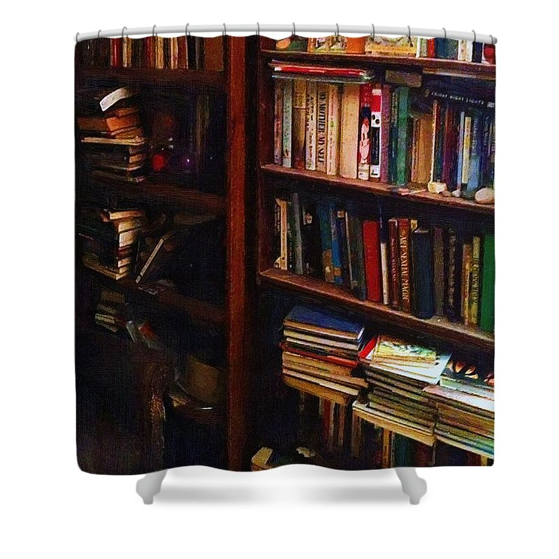 Books Shower Curtain featuring the painting Some Of My Best Friends by RC DeWinter