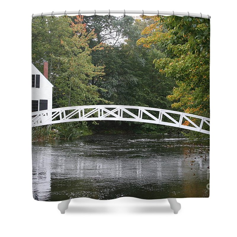 Bridge Shower Curtain featuring the photograph Somesville - Mount Dessert Island by Christiane Schulze Art And Photography