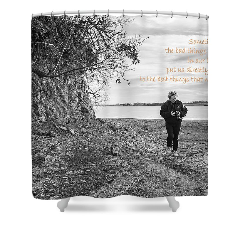 Lake Shower Curtain featuring the photograph Sometimes by Deb Buchanan