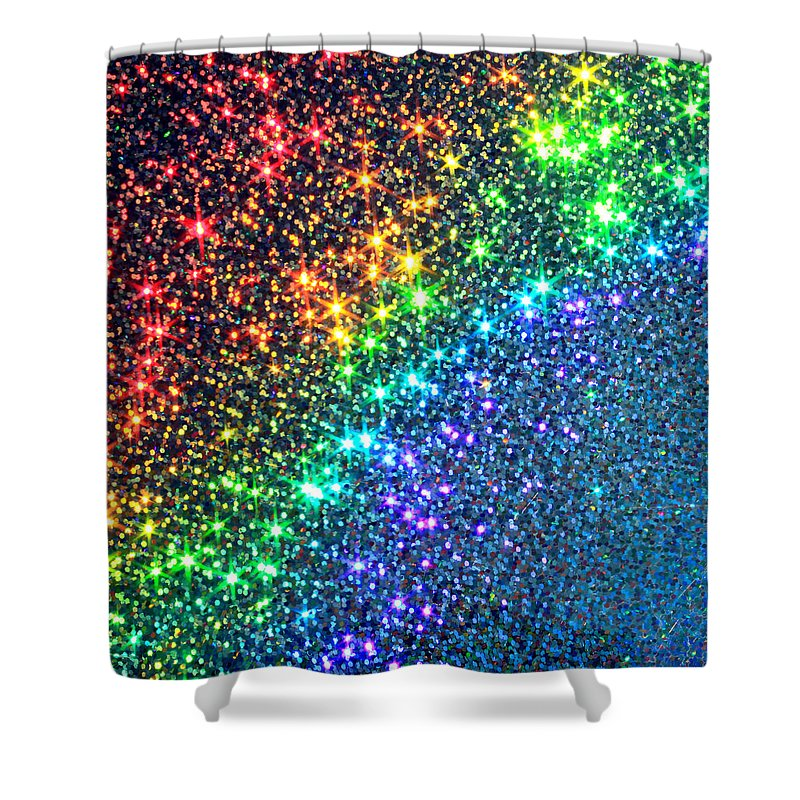 Abstract Shower Curtain featuring the photograph Song Of The Stars by Dazzle Zazz