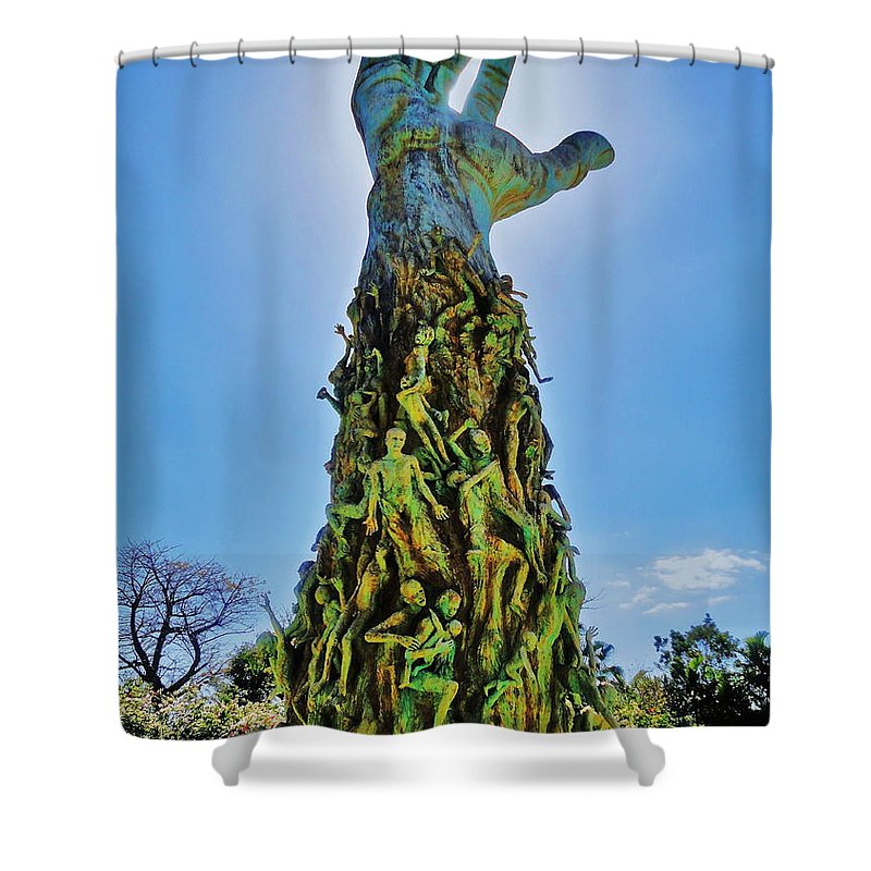 Holocaust Shower Curtain featuring the photograph Sorrow by Benjamin Yeager