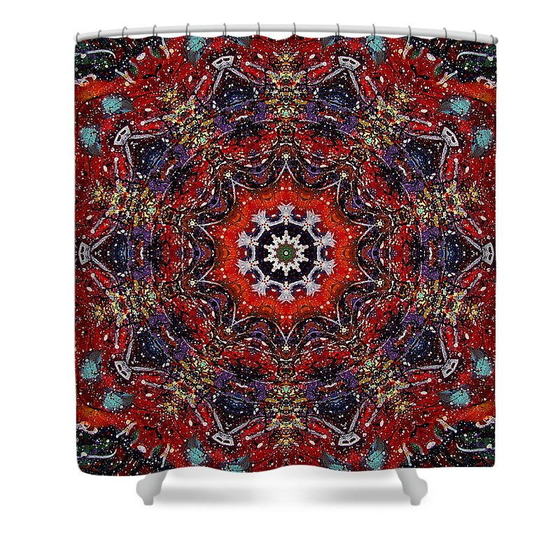 Cosmos Shower Curtain featuring the mixed media Soul Of The Universe by Natalie Holland