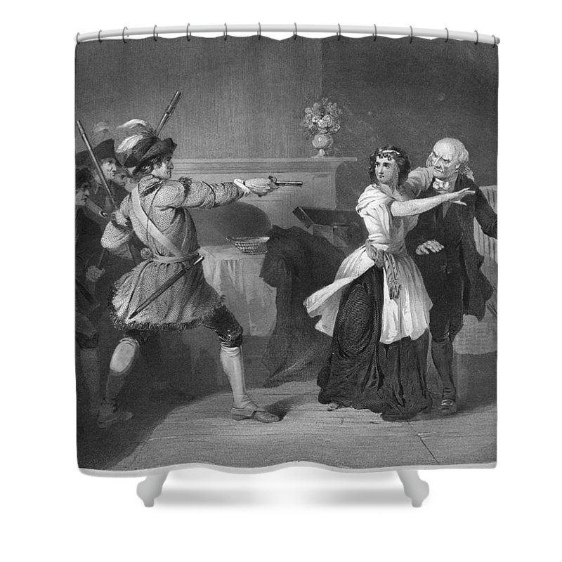 1780s Shower Curtain featuring the photograph South Carolina: Loyalists by Granger