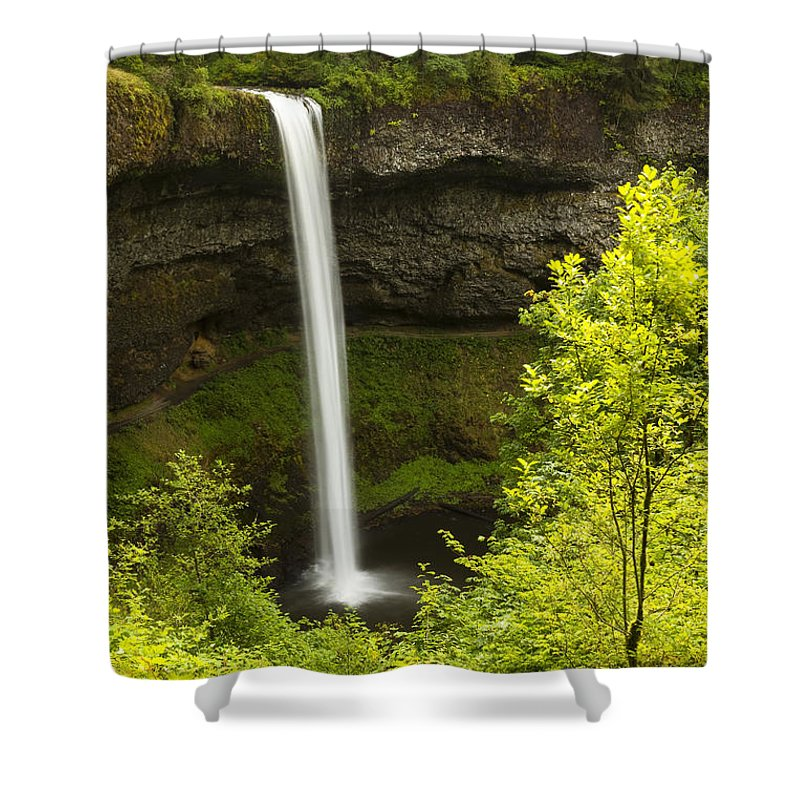 Water Shower Curtain featuring the photograph South Silver Falls 1 by John Brueske
