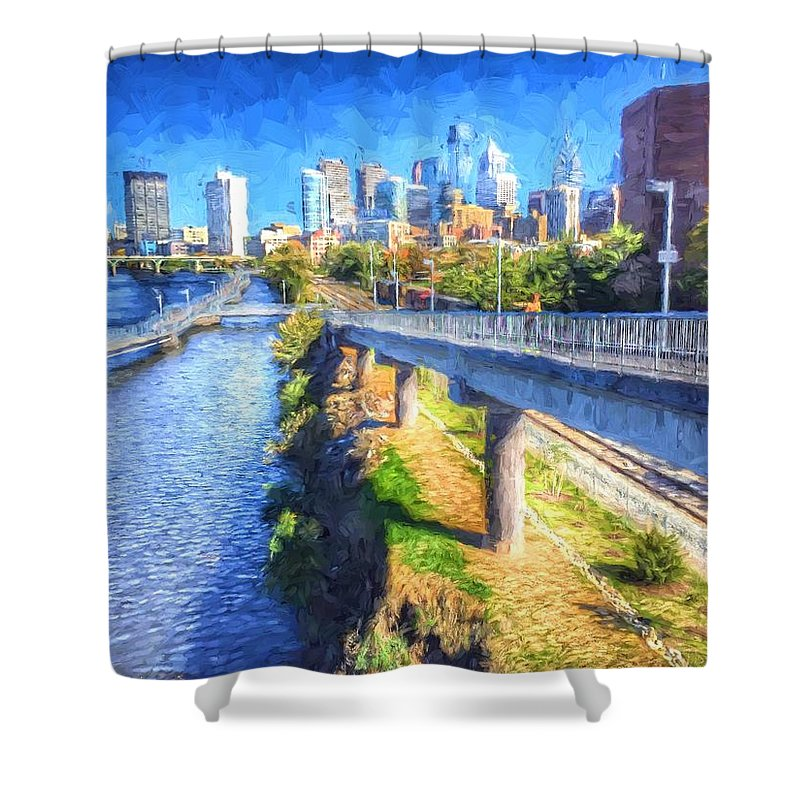 Philadelphia Shower Curtain featuring the photograph South Street Walk by Alice Gipson
