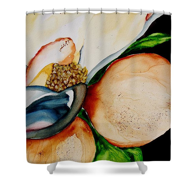 Magnolia Shower Curtain featuring the painting Southern Beauty by Lil Taylor