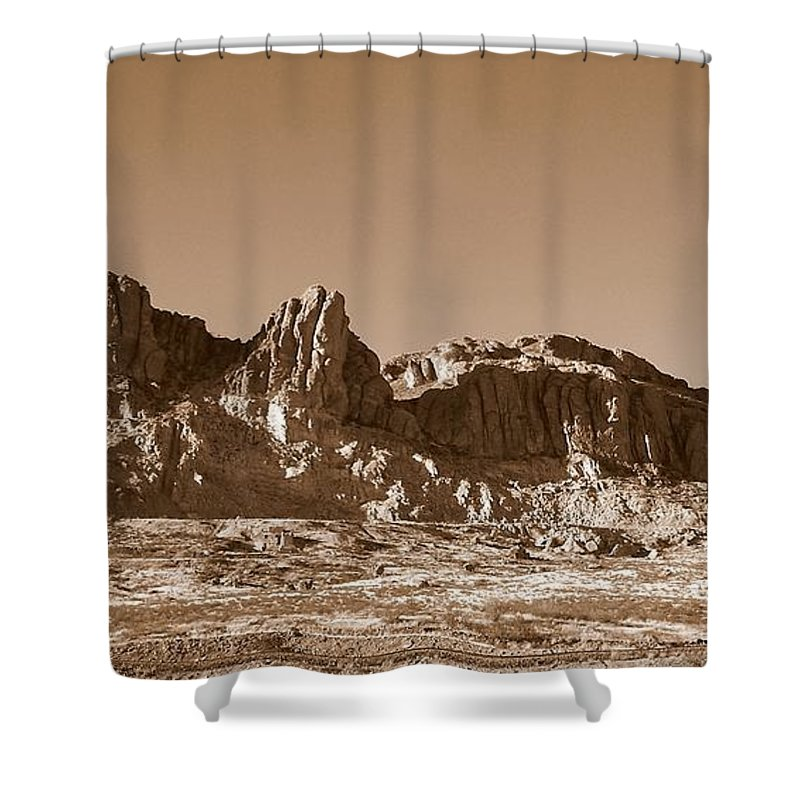 New Mexico Shower Curtain featuring the photograph Southwest In Sepia by Eunice Miller
