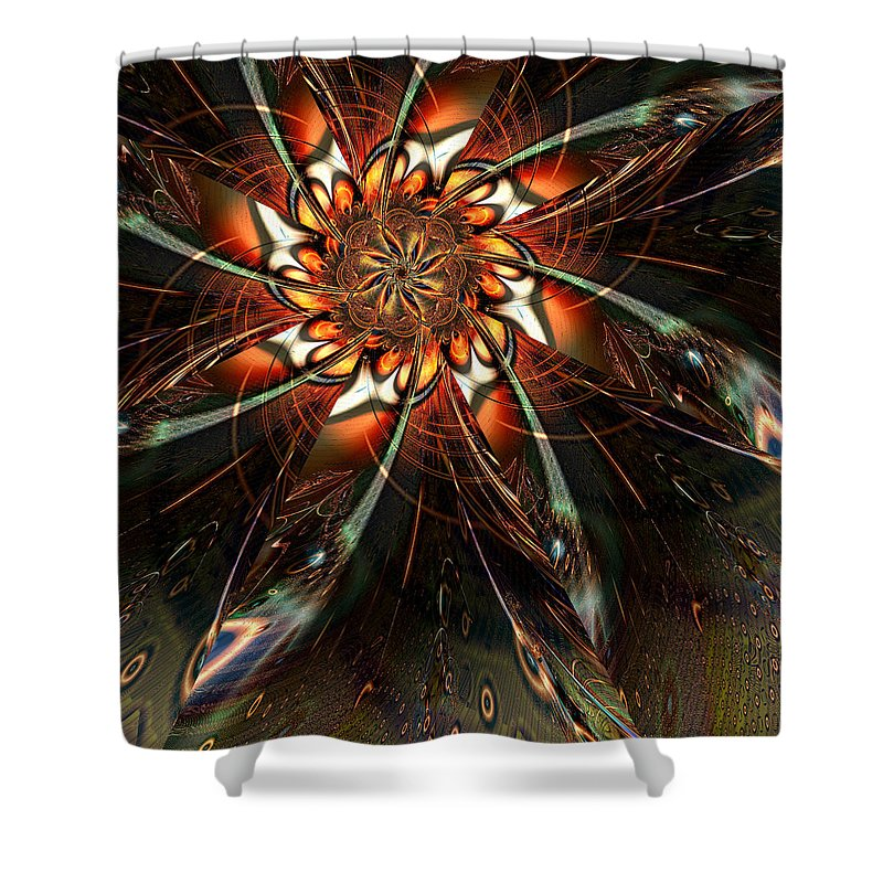 Flower Shower Curtain featuring the digital art Sowing Seeds by Kiki Art