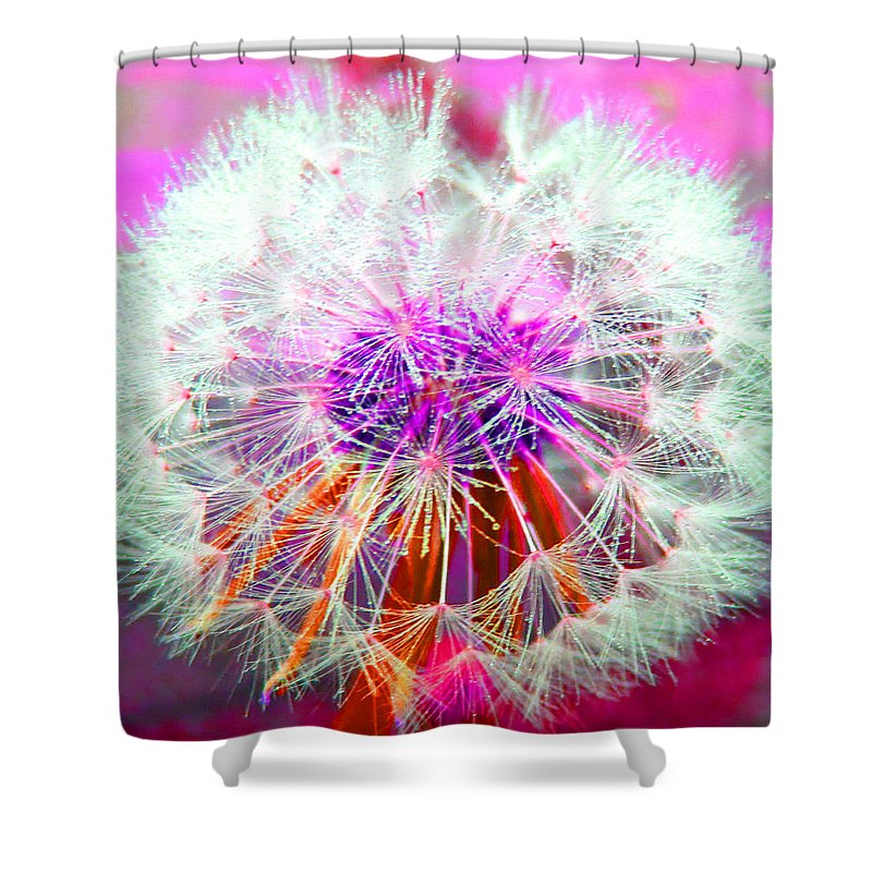 Abstract Shower Curtain featuring the digital art Sparkle by Barbara McDevitt
