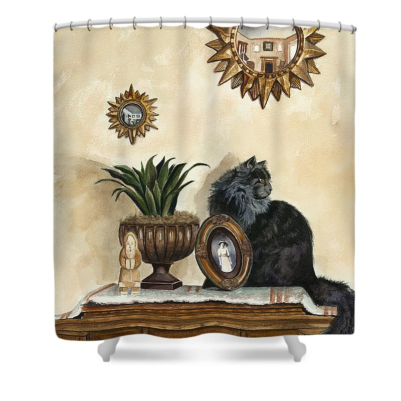 Special Treasures Shower Curtain featuring the painting Special Treasures by Terri Meyer