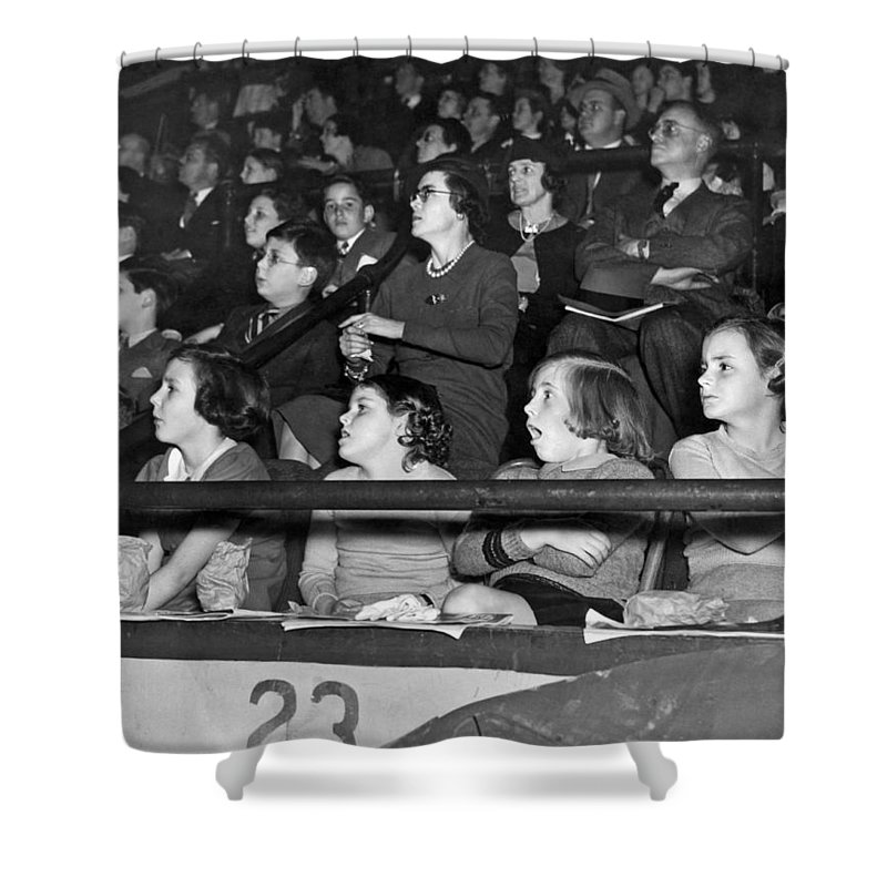 1930s Shower Curtain featuring the photograph Spectators At The Circus by Underwood Archives