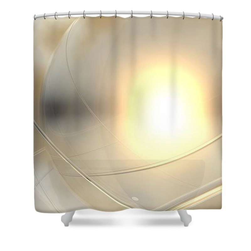 Abstract Shower Curtain featuring the digital art Spheres, No. 6 by James Kramer