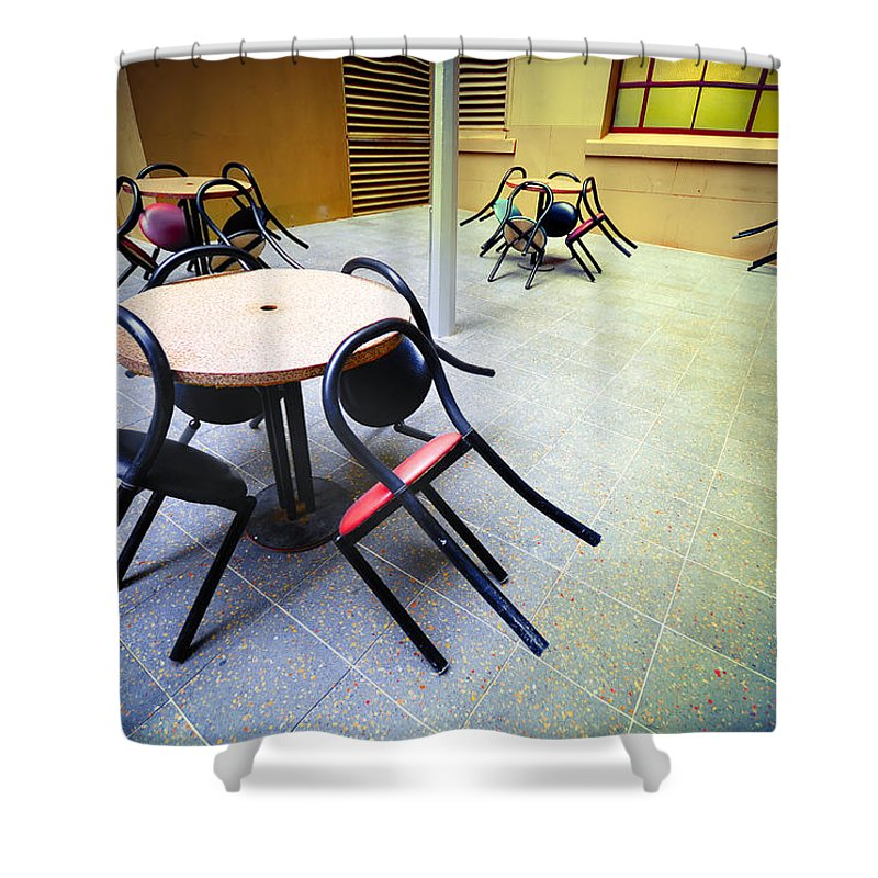 Chairs Shower Curtain featuring the photograph Spiders From Mars by Wayne Sherriff