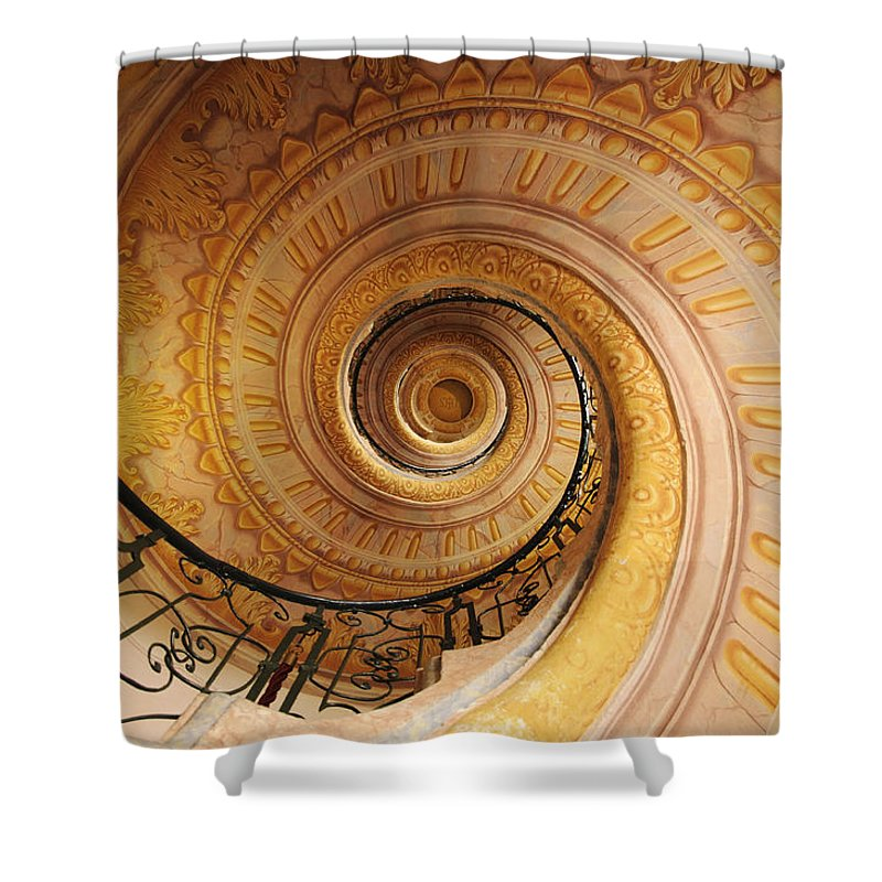 Spiral Staircase Shower Curtain featuring the photograph Spiral Staircase by Chevy Fleet