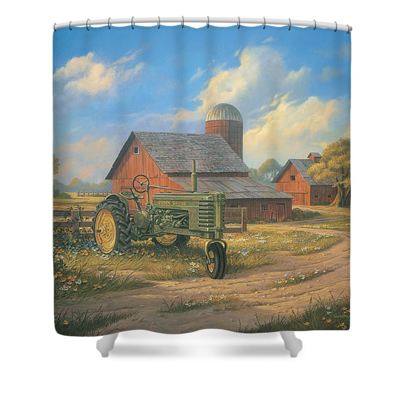 John Deere Bathroom Decor: John Deere Tractor Shower Curtains