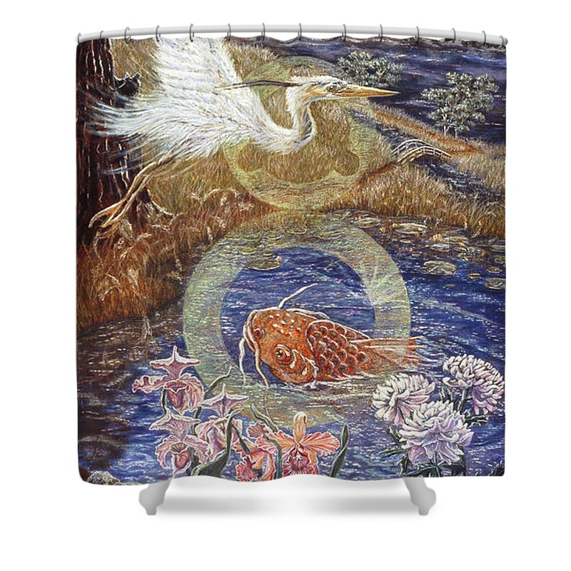 Interior Design Decor Shower Curtain featuring the painting Spirit Rising by Gail Allen