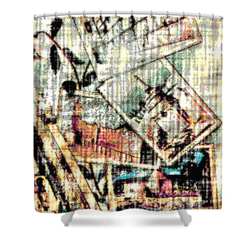 Holliland Image Shower Curtain featuring the digital art Spirtuality IIi by Yael VanGruber