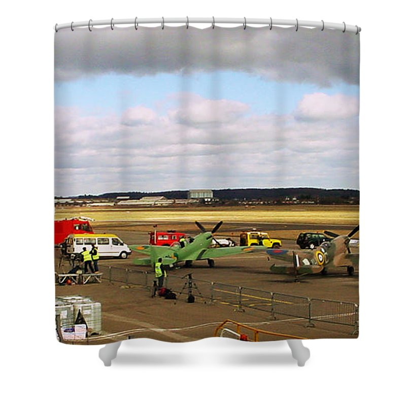 Spitfires Shower Curtain featuring the photograph Spitfire's Galore by Terri Waters
