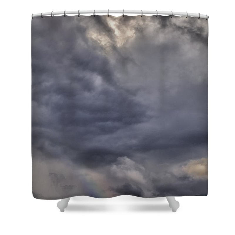 Hdr Shower Curtain featuring the photograph Splash Of A Rainbow by Angela Stanton