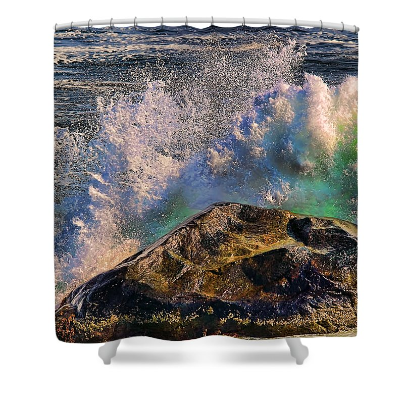 Ocean Scene Shower Curtain featuring the photograph Splash by Tom Prendergast