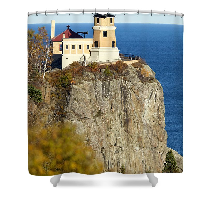 Split Rock Lighthouse Shower Curtain featuring the photograph Split Rock Lighthouse by Anthony Totah