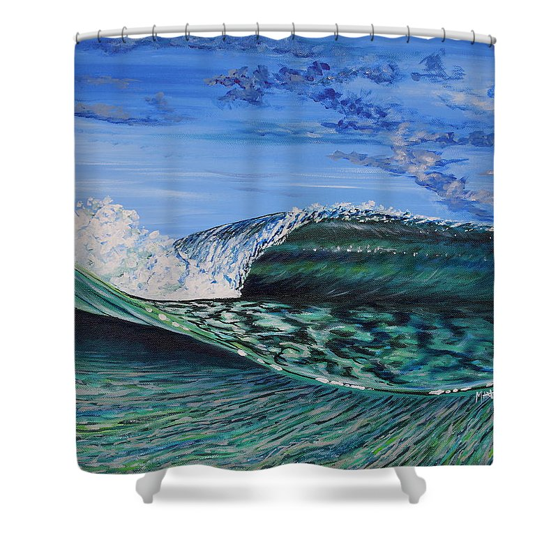 Water Shower Curtain featuring the painting Split View by Marty Calabrese