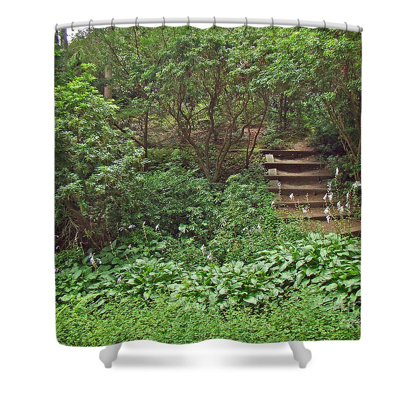 Garden Shower Curtain featuring the photograph Spohr Gardens - Quissett - Falmouth - Ma - Cape Cod by Mother Nature