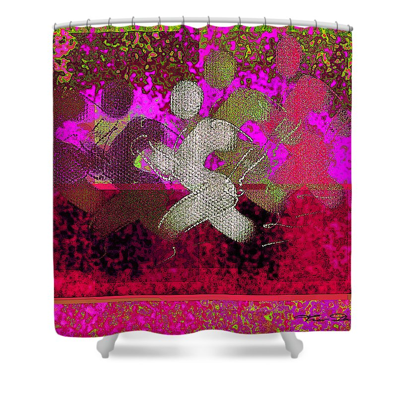 Theo Danella Shower Curtain featuring the digital art Sport B 3 by Theo Danella