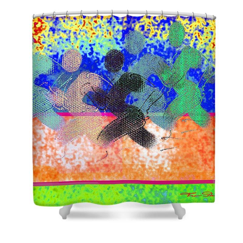 Theo Danella Shower Curtain featuring the digital art Sport B 9 C by Theo Danella