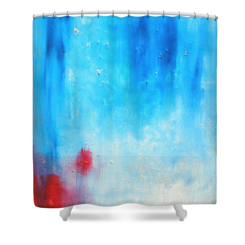 Abstract Painting Shower Curtain featuring the painting Spot by Jeff Barrett
