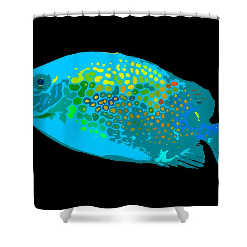 Spotted Colors Shower Curtain featuring the painting Spotted Colors by David Lee Thompson