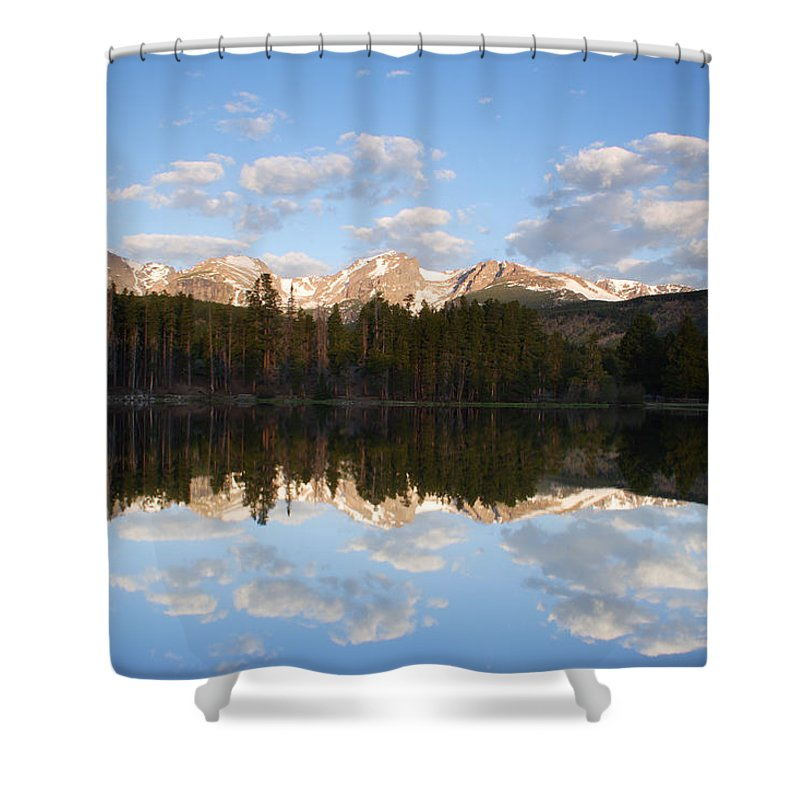 Lake Shower Curtain featuring the photograph Sprague Lake 2 by John Brueske