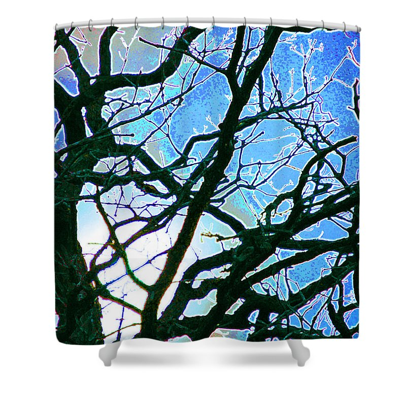 First Star Art By Jrr Shower Curtain featuring the mixed media Spring Approaches by First Star Art