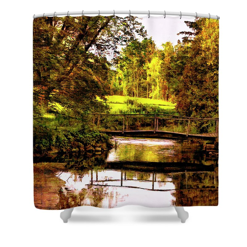 Landscape Shower Curtain featuring the photograph Spring Becomes The Summer II by Steve Harrington