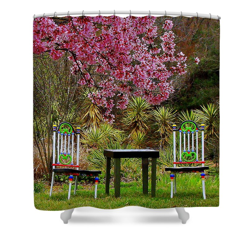 Fine Art Shower Curtain featuring the photograph Spring Begins In Wonderland by Rodney Lee Williams