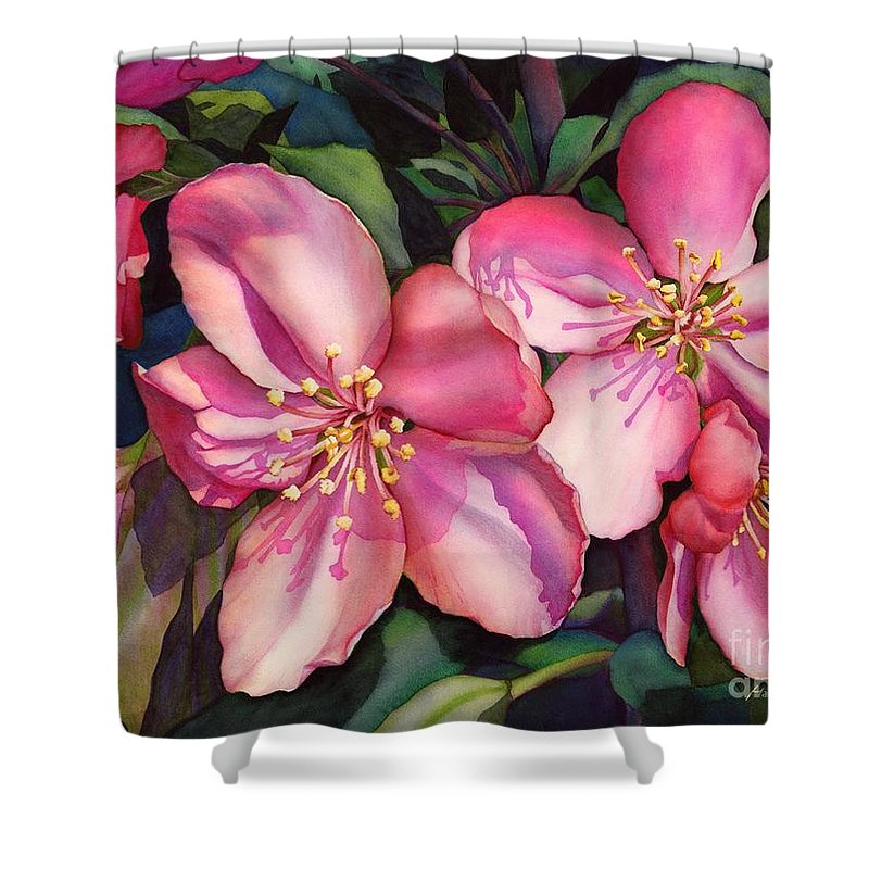 Spring Shower Curtain featuring the painting Spring Blossoms by Hailey E Herrera