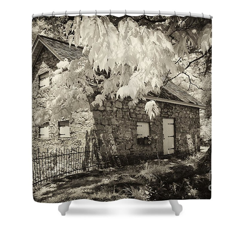 Infrared Shower Curtain featuring the photograph Spring Creek Mill by Paul W Faust - Impressions of Light